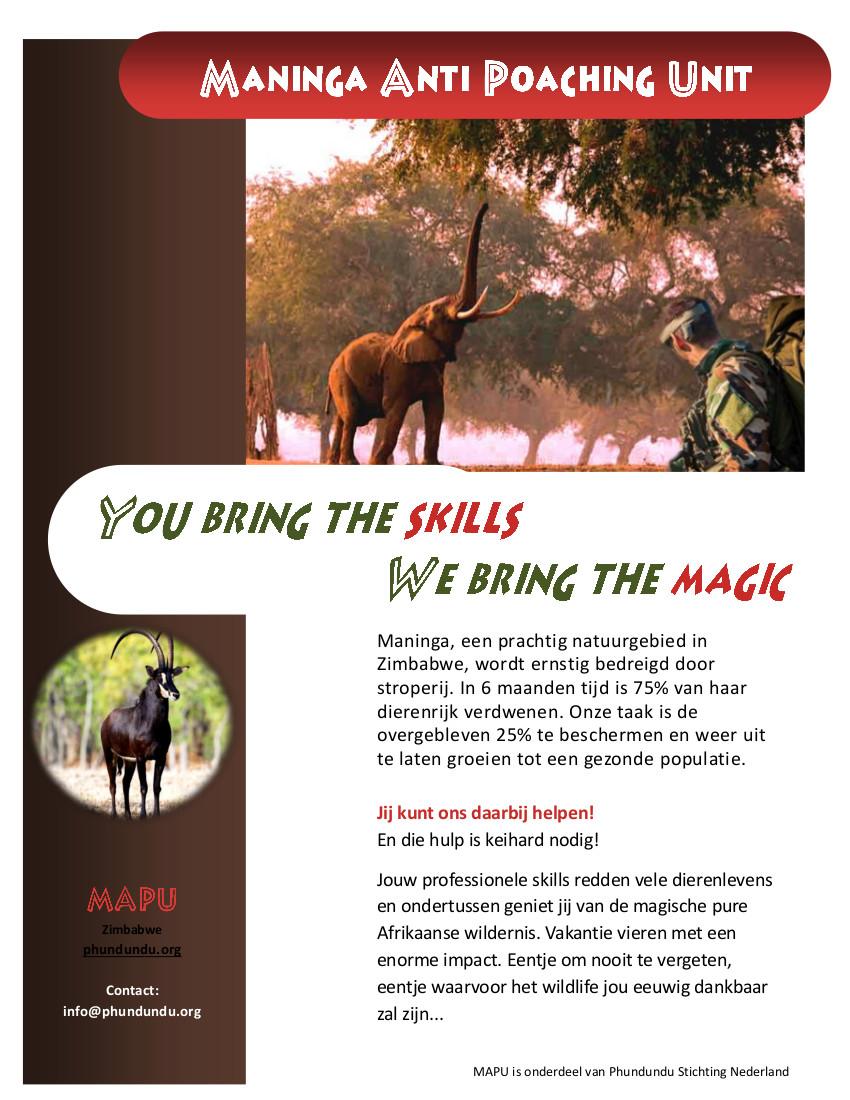 MAPU - Maninga Anti Poaching Unit